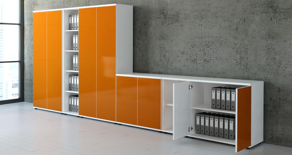 Moderne büroeinrichtung  Büromöbel Stauraum MDD, Moderne Büroeinrichtung