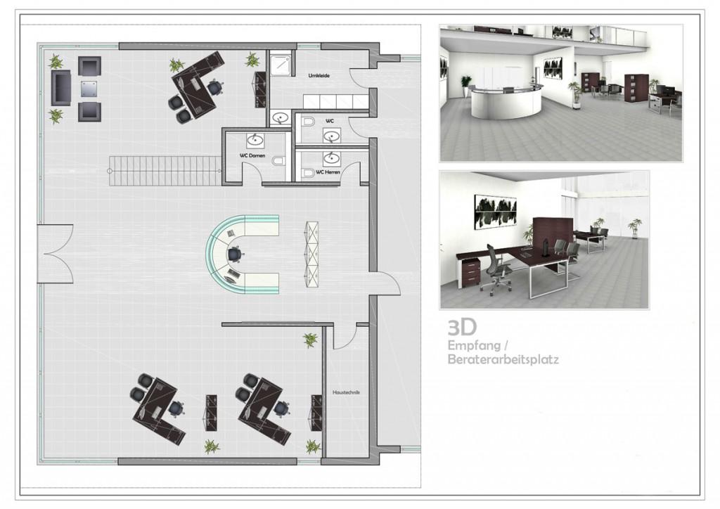 Kostenloser Büroraumplanung