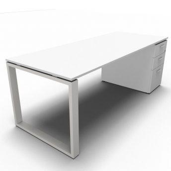 Arbeitstisch mit Standcontainer