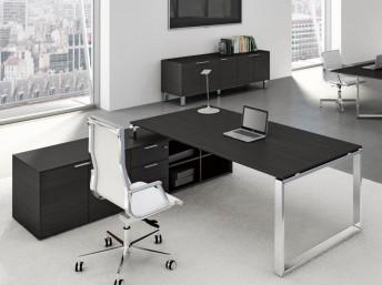 Schreibtisch mit Sideboard Groß LOOPY