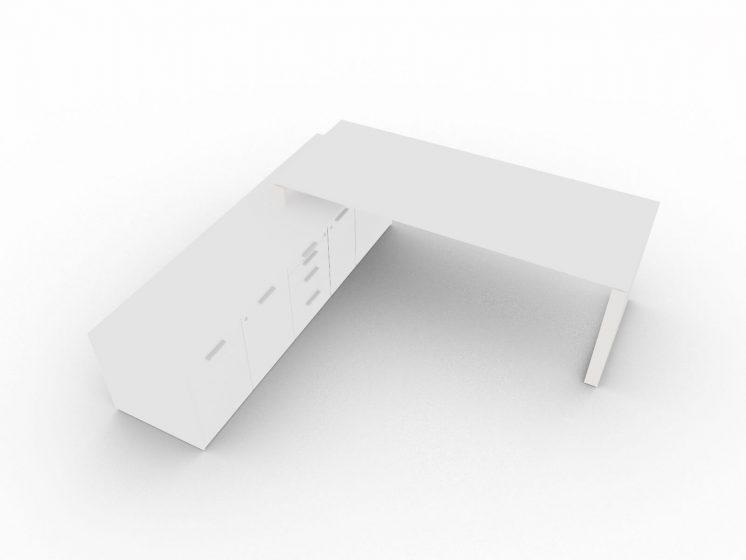 Chefschreibtisch-mit-grossem-Sideboard-Weiss