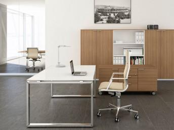 Glas- Schreibtisch LOOPY