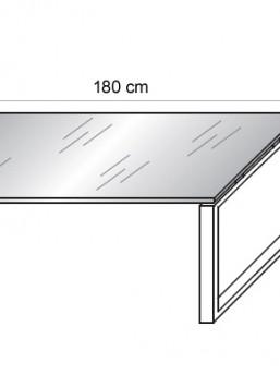 Glasschreibtisch Loopy-3