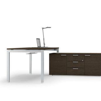 Schreibtisch mit Sideboard-2