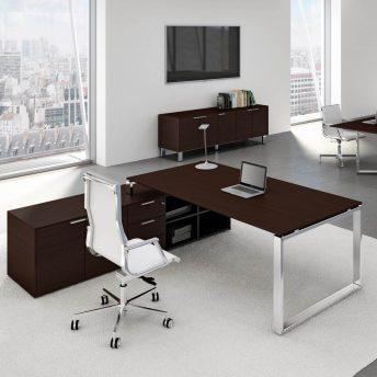 Schreibtisch-mit-Sideboard-Loopy-dunkel-eiche-WW