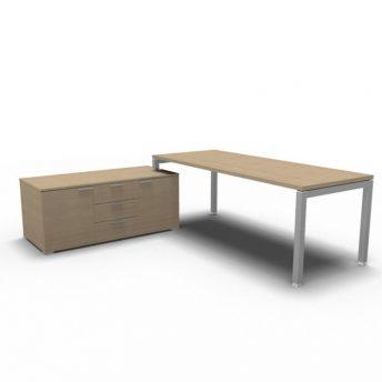 Schreibtisch mit Sideboard