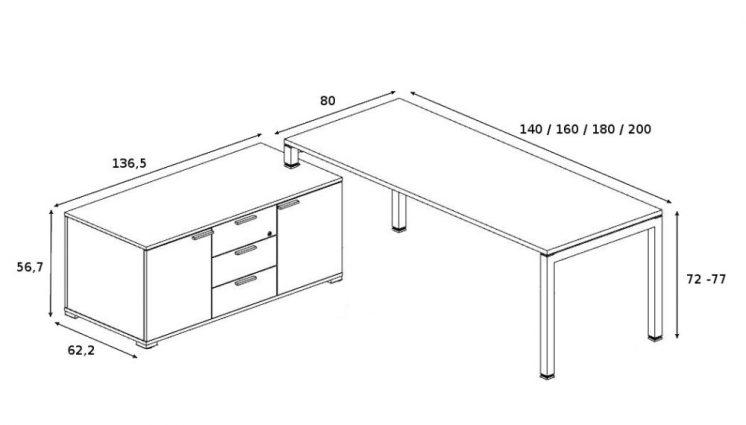 Schreibtisch mit Sideboard_5
