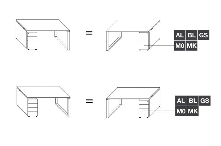 Schreibtisch-mit-Unterbaucontainer-Loopy-Ausrichtung