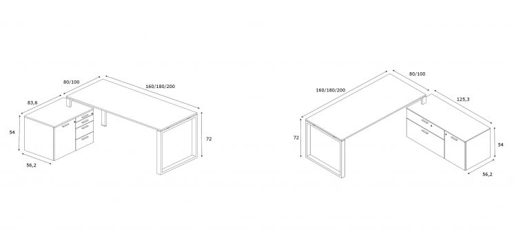 Schreibtische-mit-Sideboards-Loopy-Abmessungen