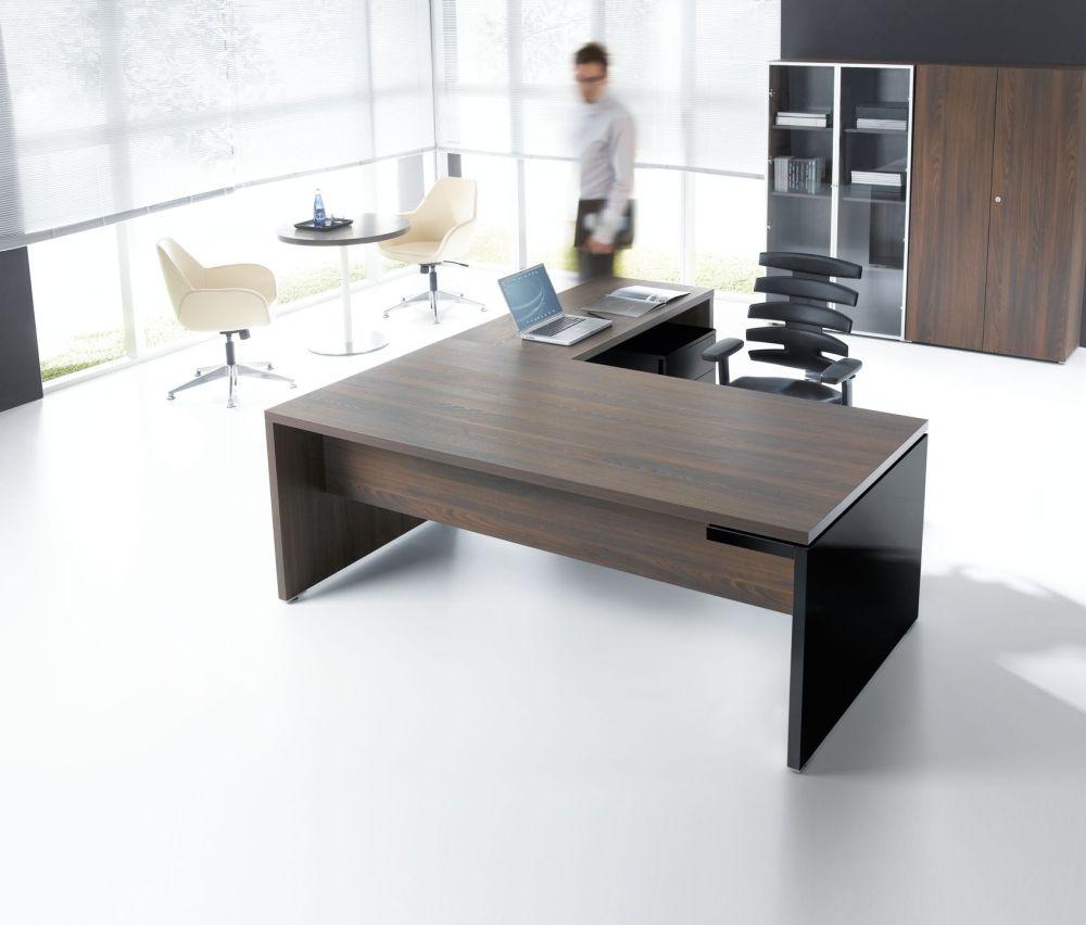 Schreibtisch mit Anbautisch FARO | Klassiker Direkt - Chefzimmer ...