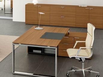 Schreibtisch mit Sideboard LOOPY