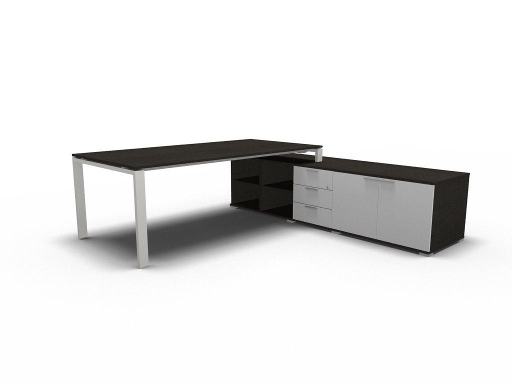 schreibtisch mit sideboard gross glider b rom bel. Black Bedroom Furniture Sets. Home Design Ideas