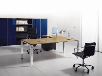Winkel- Schreibtisch GLIDER Furnier