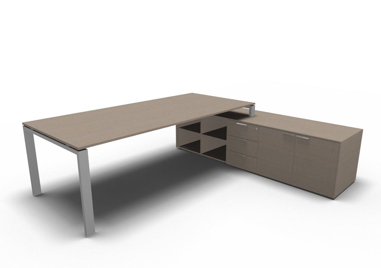 chef schreibtisch mit sideboard gross glider klassiker direkt chefzimmer b rom bel. Black Bedroom Furniture Sets. Home Design Ideas