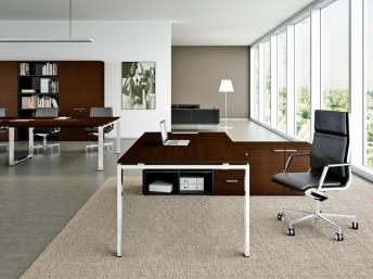 Chef- Schreibtisch mit Sideboard gross GLIDER