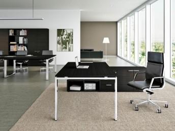Schreibtisch mit Sideboard  gross GLIDER