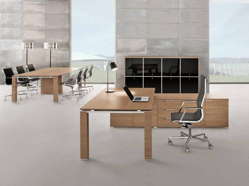 Schreibtisch JET mit Sideboard groß | Klassiker Direkt - Chefzimmer ...
