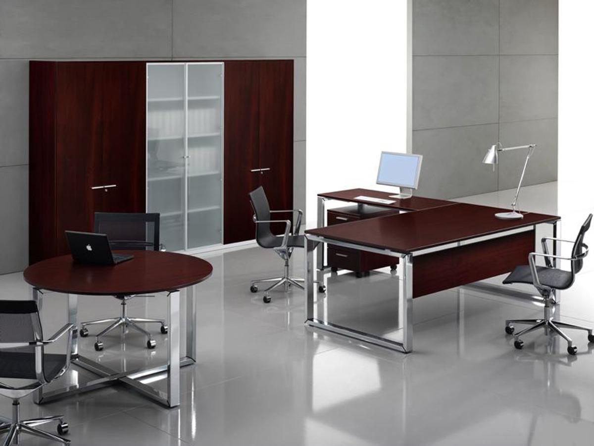 Chef- Schreibtisch LOOPY Furnier | Klassiker Direkt - Chefzimmer ...