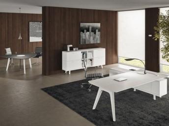 Schreibtisch Rail mit Sideboard