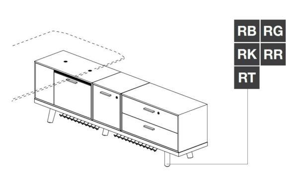 Chefschreibtisch mit Sideboard Rail-2