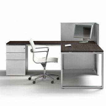 Eck- Schreibtisch mit Container LOOPY