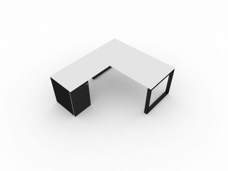 Eckschreibtisch-mit-Container-Schwarz-Tortora