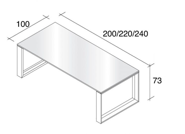 Glasschreibtisch Arche 6