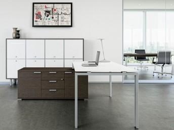 Schreibtisch mit Sideboard GLIDER