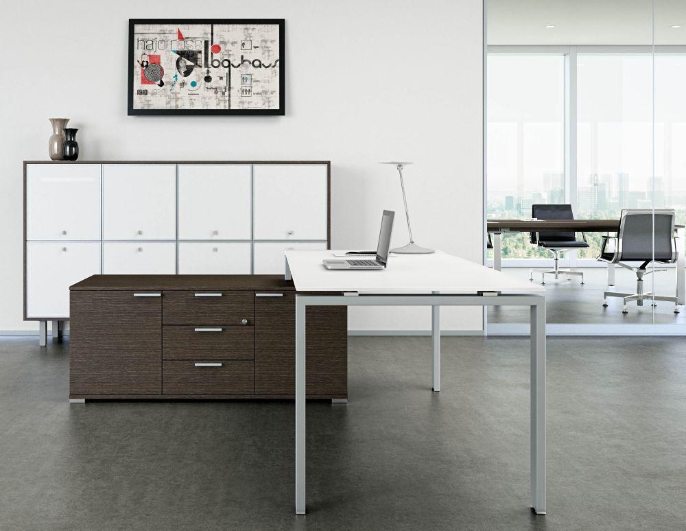 Schreibtisch mit Sideboard GLIDER   Klassiker Direkt - Chefzimmer ...