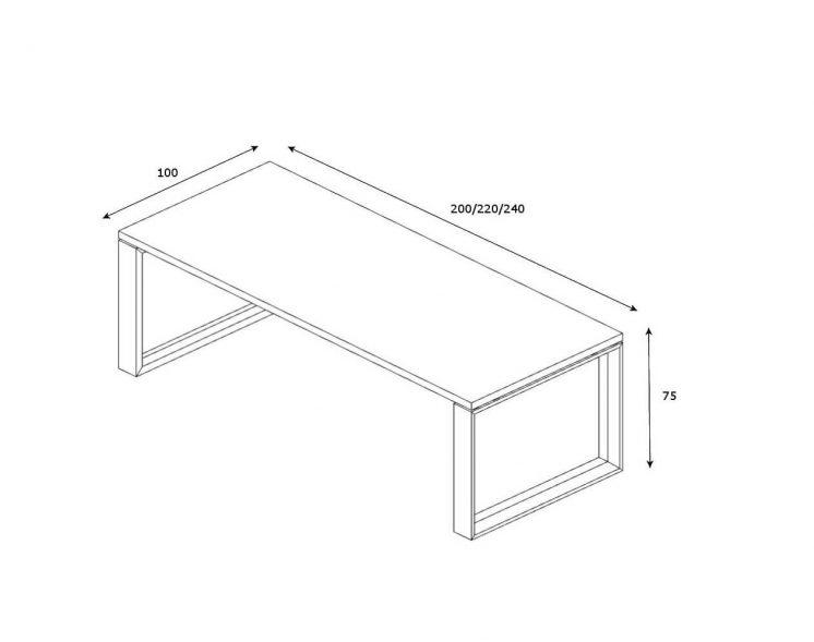 Schreibtisch-Arche-Abmessungen