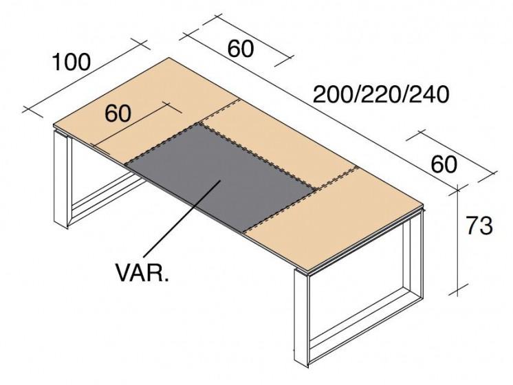Schreibtisch Arche Leder 6