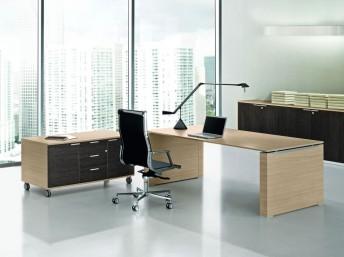 Schreibtisch JET mit Wangengestell