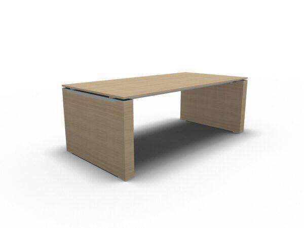 Schreibtisch Jet mit Wangengestell Eiche