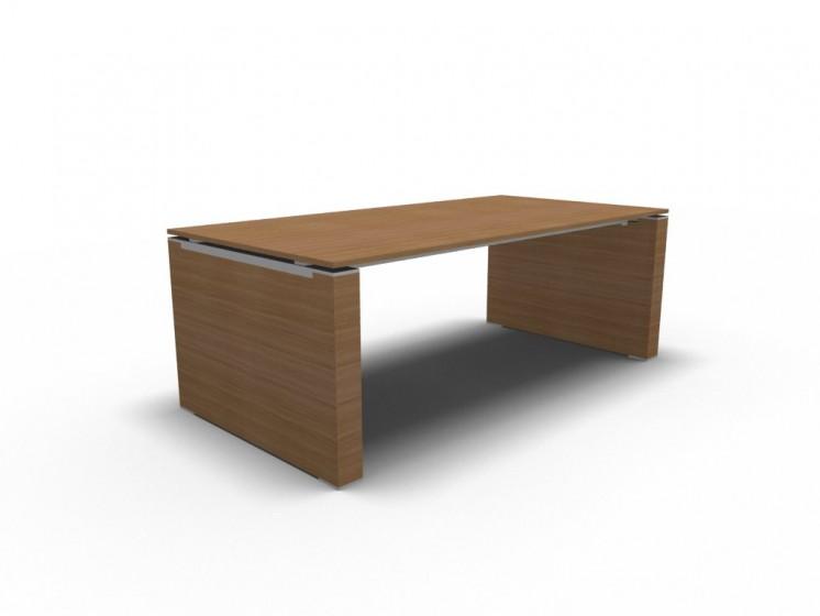 Schreibtisch Jet mit Wangengestell Nussbaum