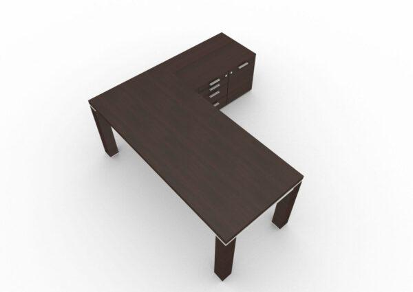 Schreibtisch-Jet-mit-kleinem-Sideboard-Wenge