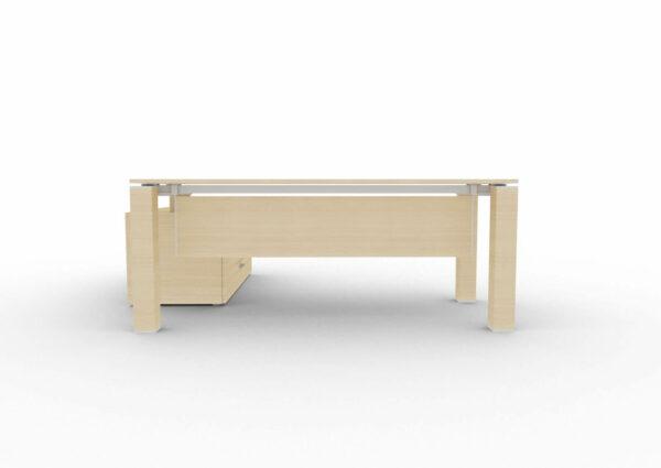 Schreibtisch-Jet-mit-kleinem-Sideboard-mit-Knieraumblende