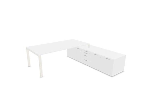 Schreibtisch-mit-Sideboard-Glider-Weiss