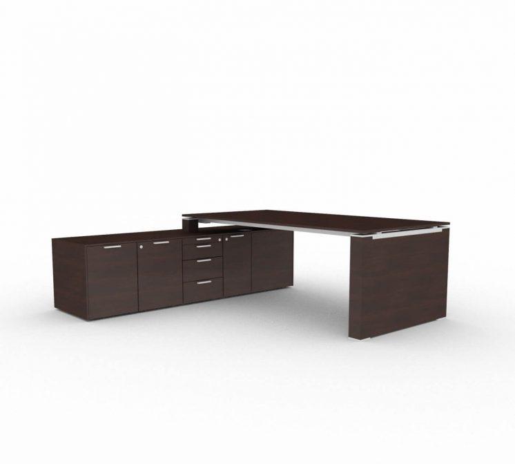 Schreibtisch-mit-Sideboard-und-Wangengestell-Wenge