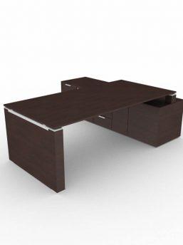Schreibtisch-mit-Sideboard-und-Wangengestell-Wenge_2