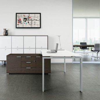 Schreibtisch-mit-kleinem-Sideboard-Glider