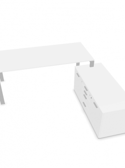 Schreibtisch-mit-kleinem-Sideboard-Weiss