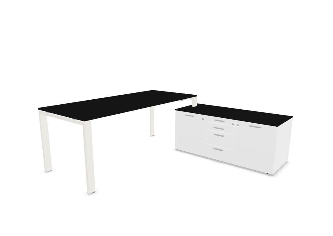 Schreibtisch Mit Sideboard Glider Von Bralco Buromobel