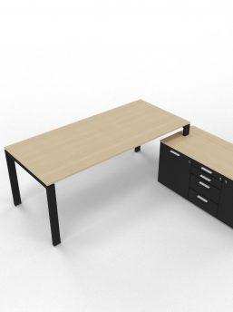 Schreibtisch-mit-kleinem-Sideboard-eiche-schwarz