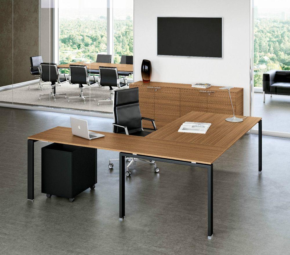 Winkel- Schreibtisch GLIDER | Klassiker Direkt - Chefzimmer ...
