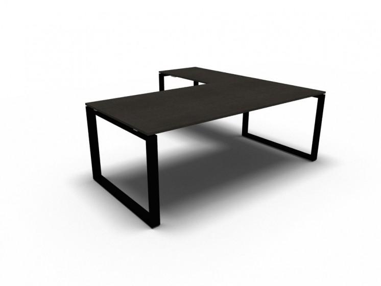 Winkelschreibtisch Loopy Schreibtisch mit Anbautisch