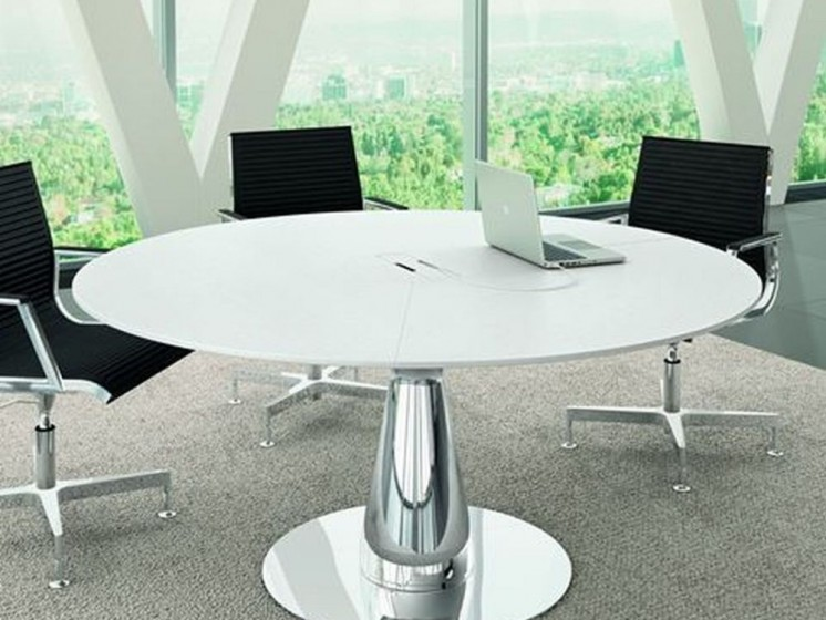 konferenztisch metar rund klassiker direkt chefzimmer. Black Bedroom Furniture Sets. Home Design Ideas
