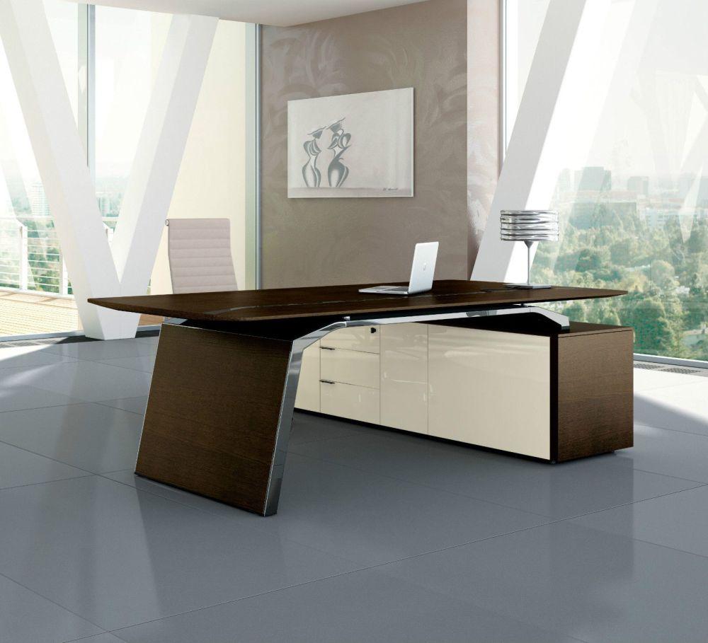 chef schreibtisch mit sideboard metar b rom bel. Black Bedroom Furniture Sets. Home Design Ideas