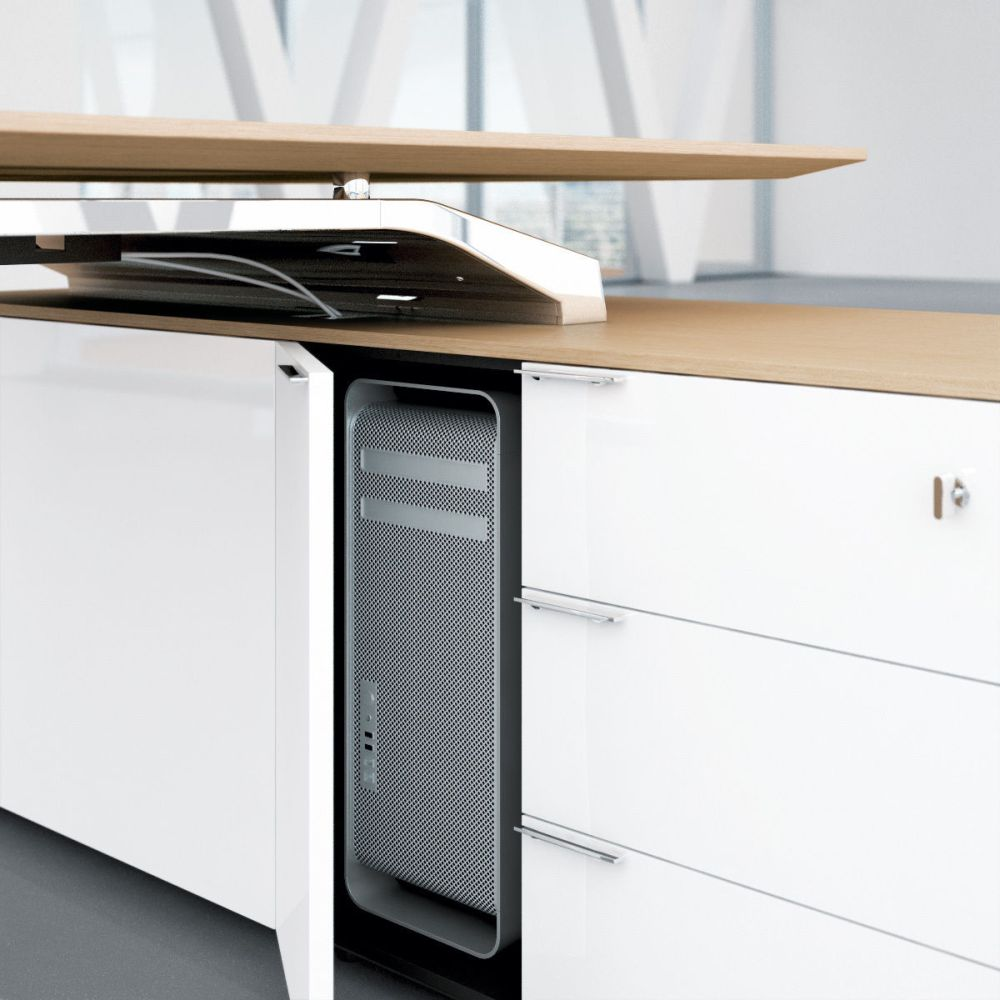Schreibtisch mit Sideboard Metar | Büromöbel