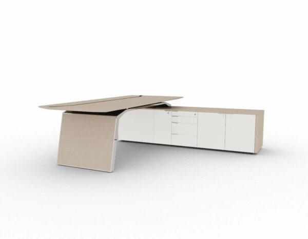 Chefschreibtisch-Metar-mit-Sideboard