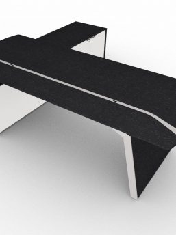 Chefschreibtisch-Metar-mit-Sideboard-Eiche-schwarz